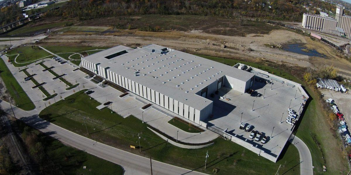 Des Moines Municipal Services Center Aerial View