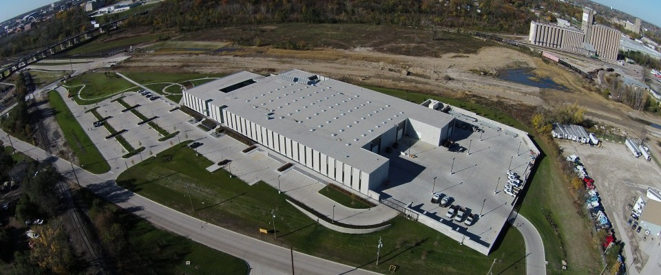 Des Moines Municipal Services Center Aerial View